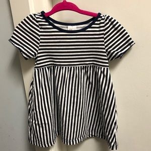 NWOT H&M Sz 9-12M Navy & White Striped Dress